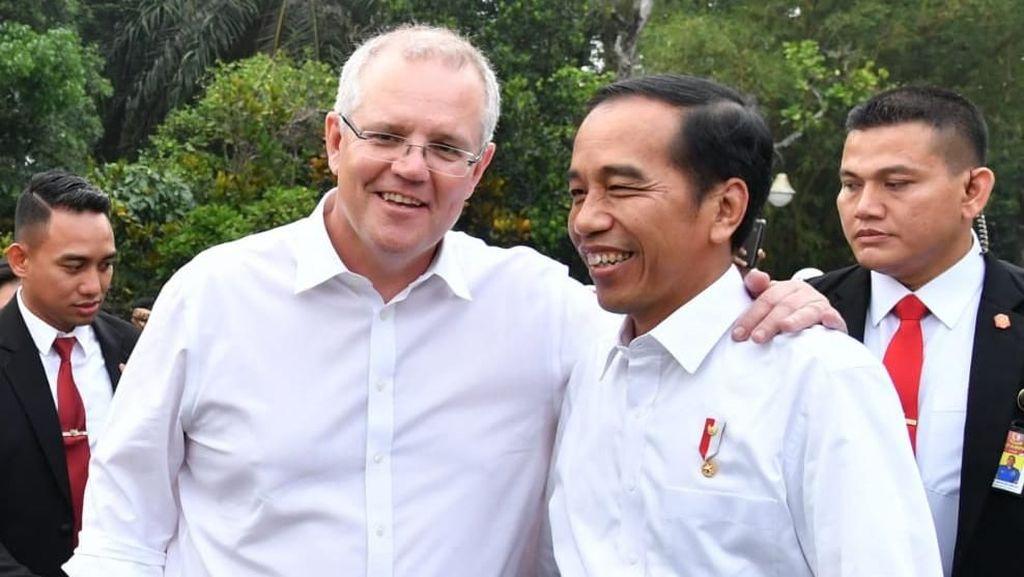 Potret Keakraban Jokowi-PM Australia di Bogor