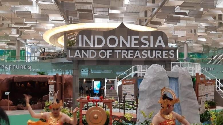 Promosi Wonderful Indonesia di Bandara Changi (dok. Kemenpar)