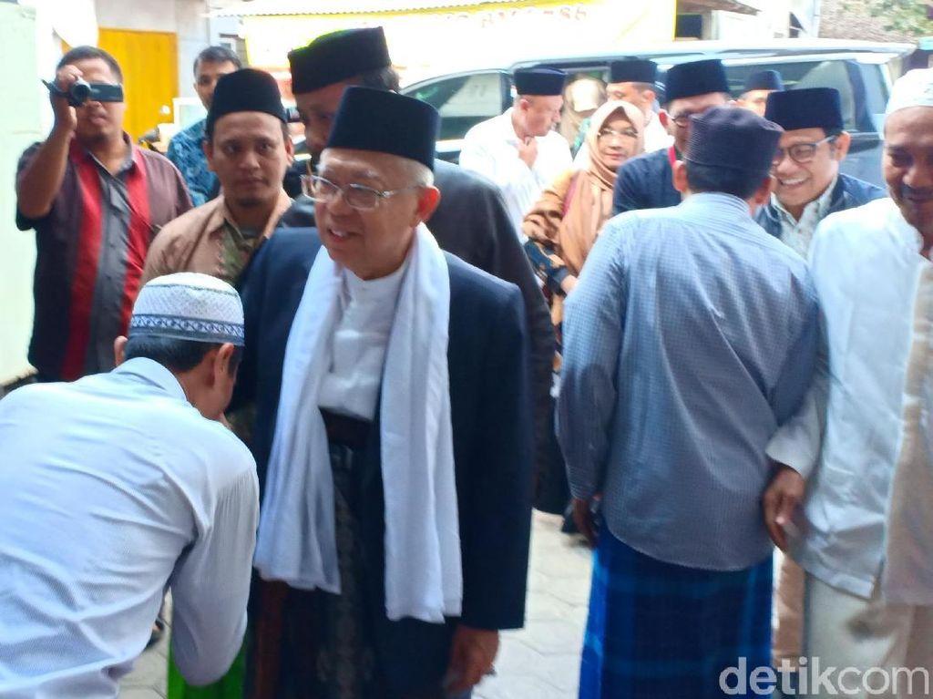 Maruf Amin Silaturahim ke Lirboyo: Kiai Juga Bisa Jadi Cawapres