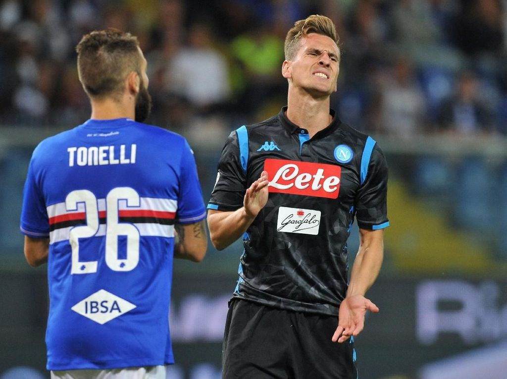 Hasil Liga Italia: Napoli Dilumat Sampdoria 0-3