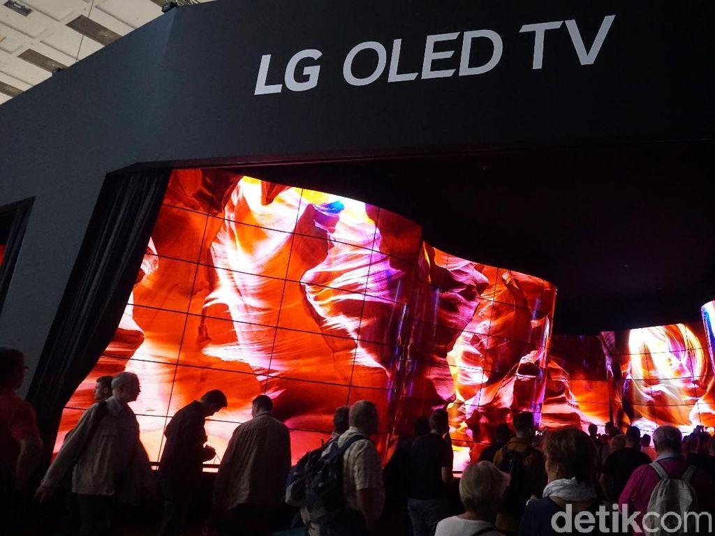 Dibuat Takjub Lorong TV Raksasa LG