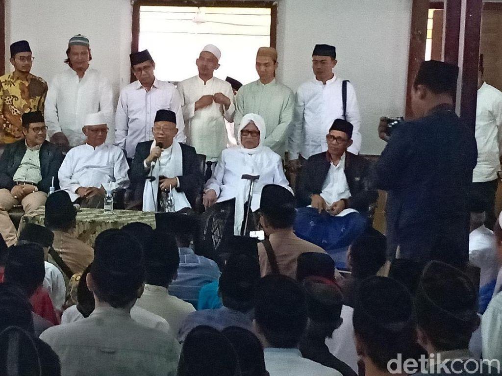 Kiai Sepuh Lirboyo Dukung Maruf Amin Jadi Cawapres Jokowi