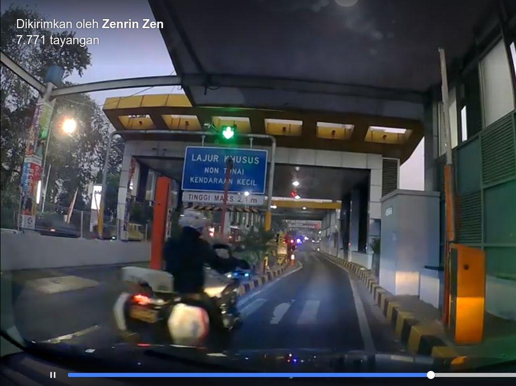 Dirlantas Masih Cari Oknum Polisi yang Serobot Mobil di Gerbang Tol