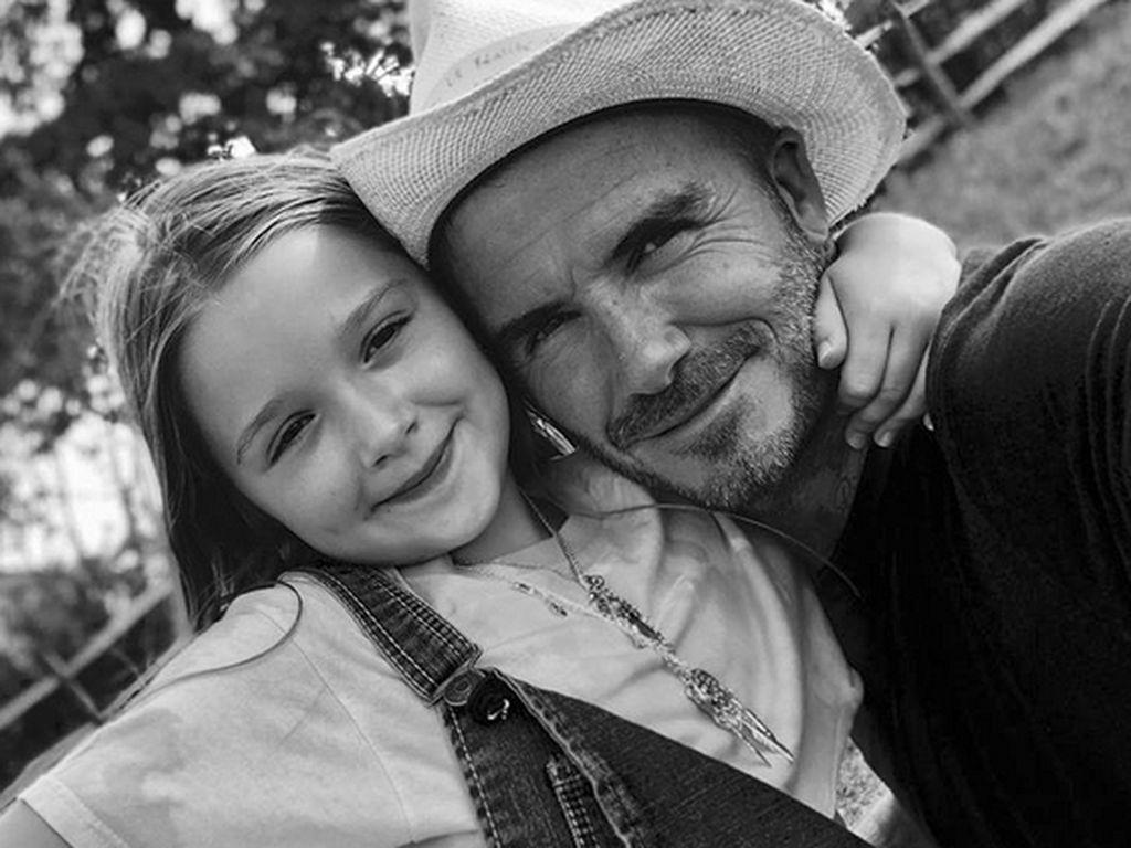Momen Manis David Beckham Dibuatkan Sarapan oleh Putri Kecilnya