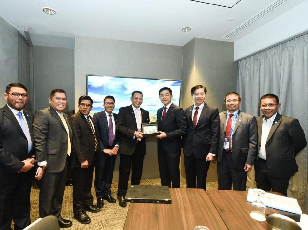 Bertemu Bamsoet, Ketua Parlemen Singapura Puji Kesuksesan Asian Games