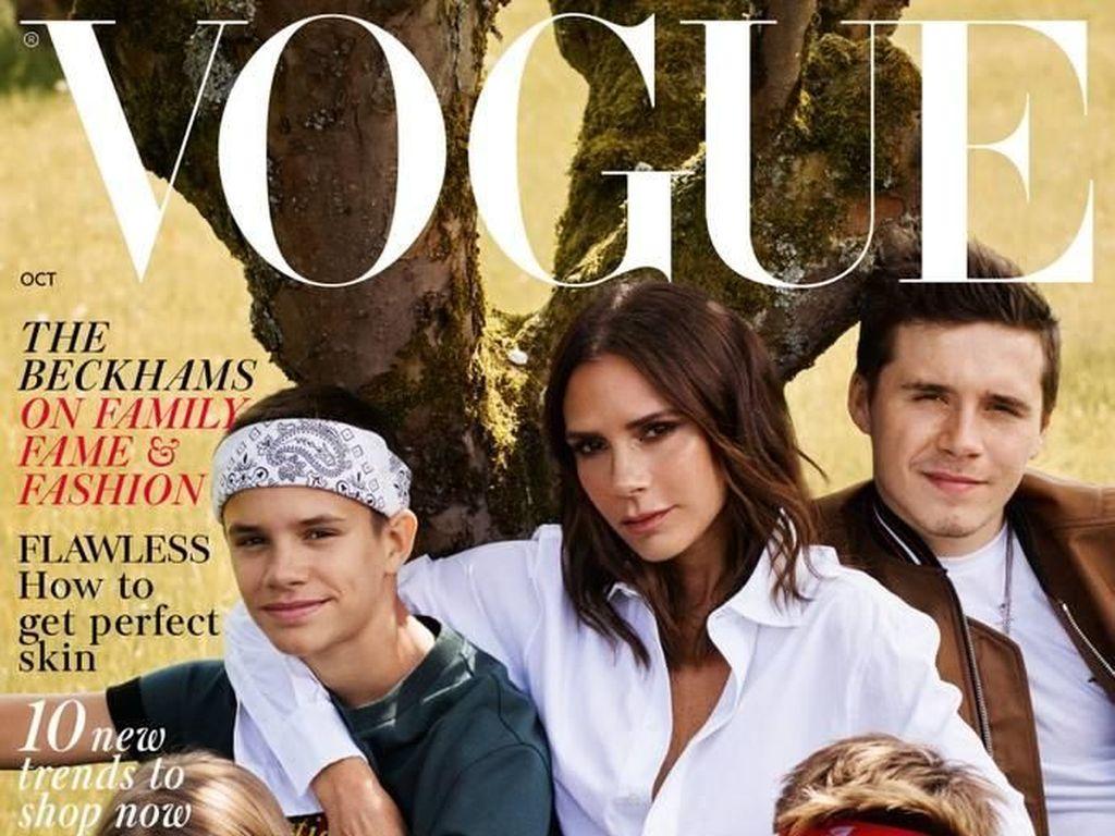 Family Goals, Victoria Beckham Mejeng Bareng 4 Anaknya di Cover Vogue