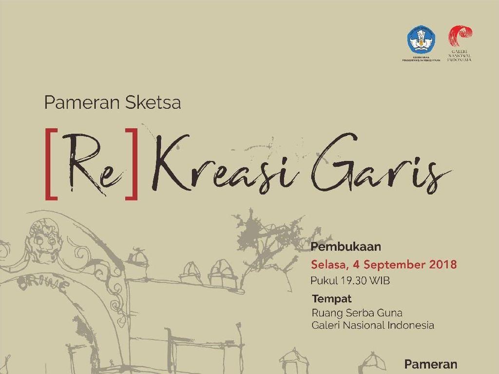 Ratusan Sketsa dari 138 Sketchers Dipajang di Galeri Nasional Indonesia