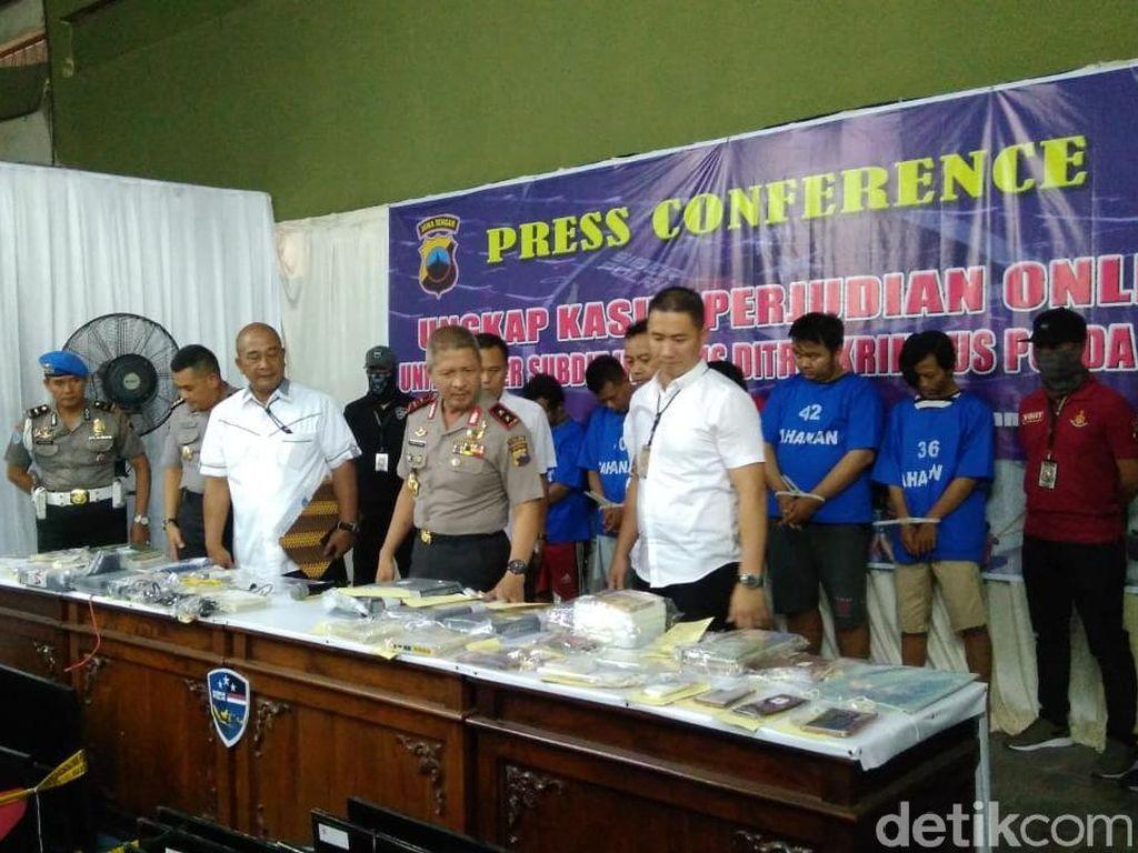 Sarang Judi Online Beromzet Rp 1 M/Bulan Digrebeg Polisi di Solo