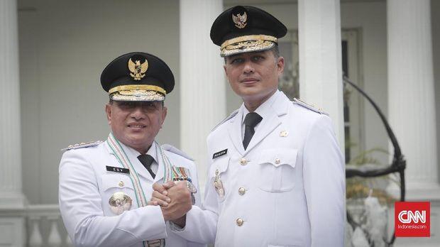 Pasangan Gubernur dan wakil gubernur Sumatera Utara, Edy Rahmayadi-Musa Rajekshah.