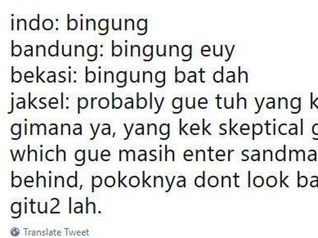 Viral Guyonan Anak Jaksel Which is Kalau Ngomong Ruwet Banget!