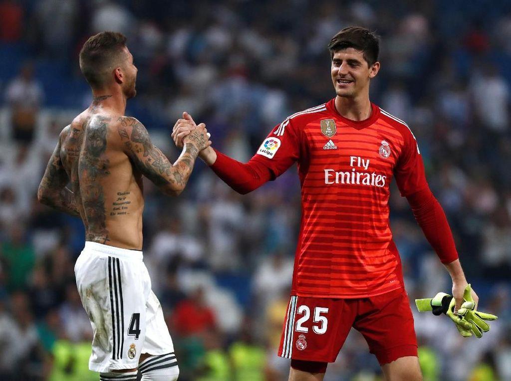 Di Madrid, Courtois Kadang Diejek soal Kekalahan Atletico di Final Liga Champions