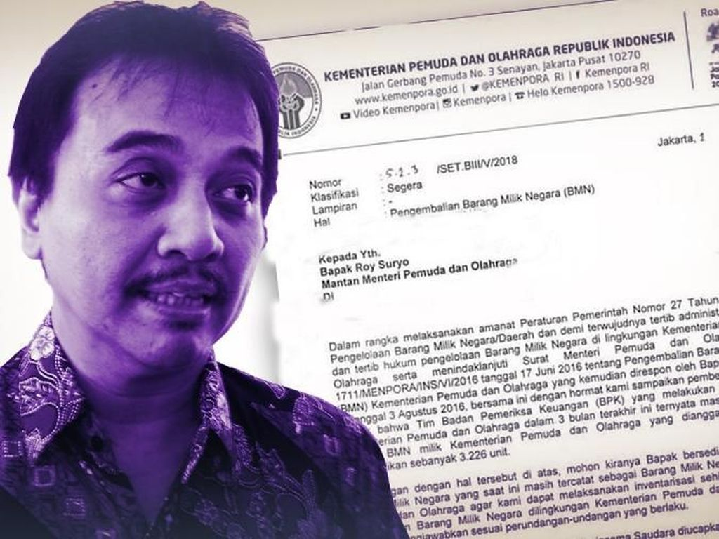 Roy Suryo Diminta Kembalikan Aset Kemenpora Lagi di September 2018