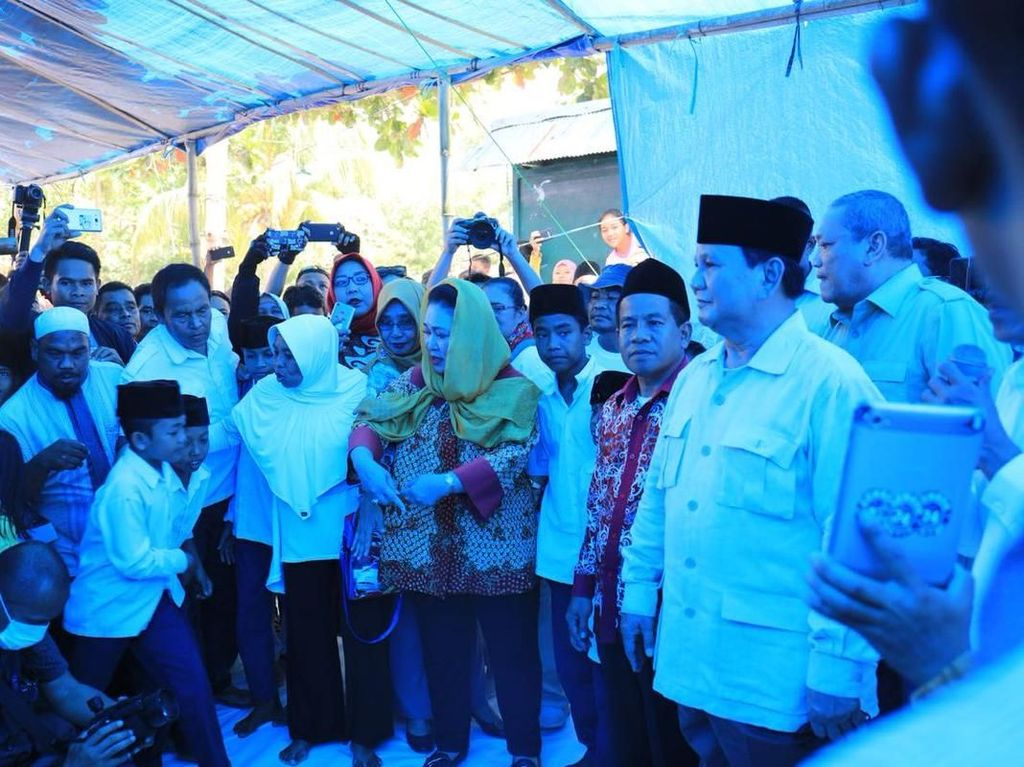 Gerindra: Titiek Spontan Ikut Prabowo ke Lombok