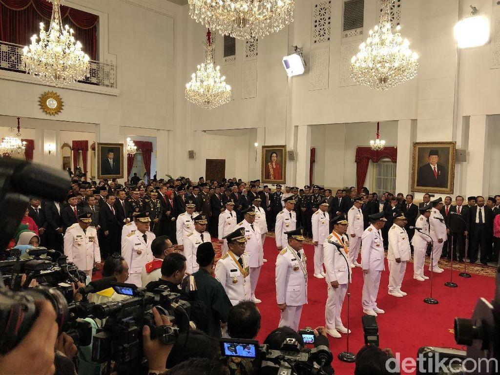 Video: Pelantikan 9 Gubernur-Wagub Terpilih oleh Jokowi di Istana