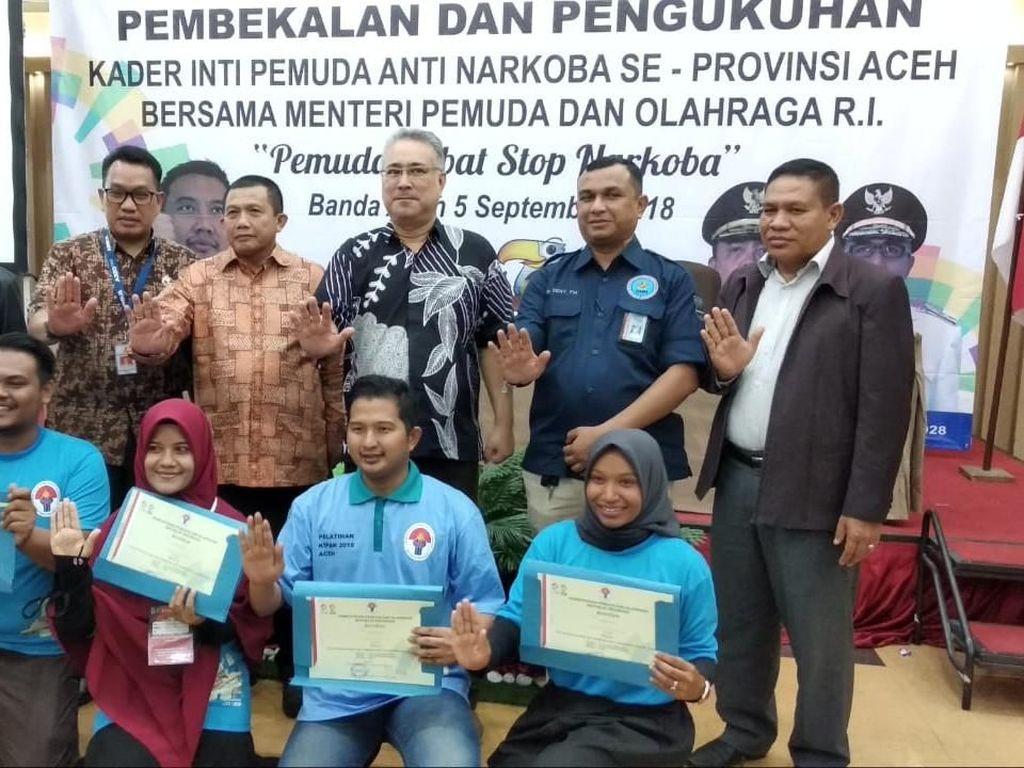 200 Pemuda Aceh Anti Narkoba Dilantik