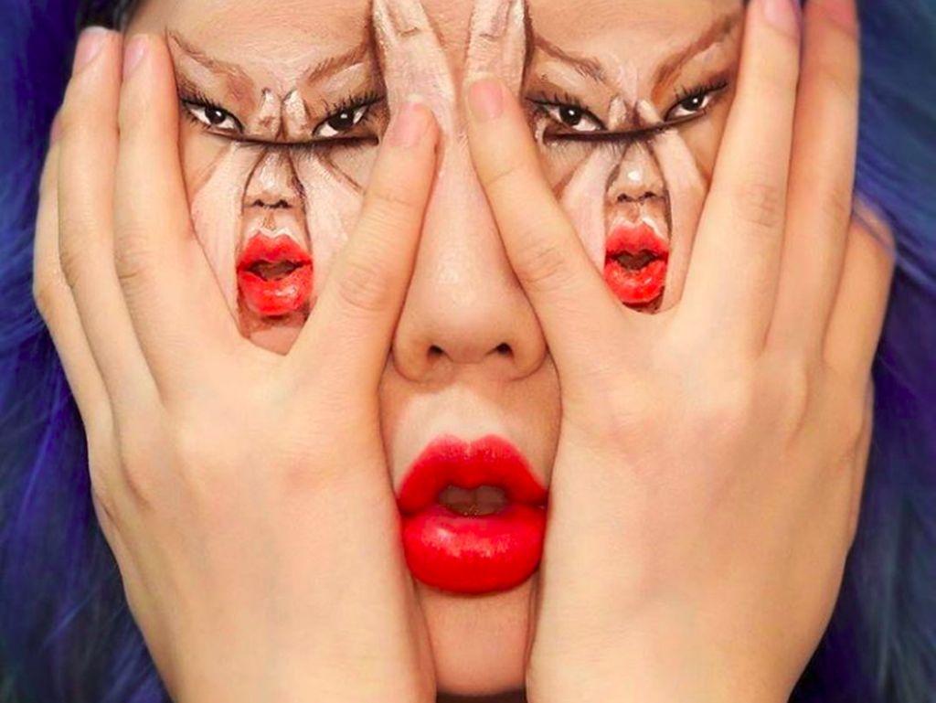 Ilusi Optik dari Make Up Artist yang Satu Ini Bikin Migrain Kambuh!