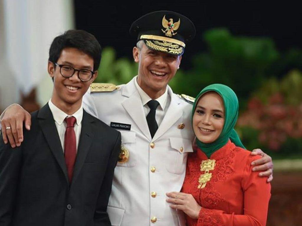Potret Harmonis Keluarga Kecil Gubernur Jateng Ganjar Pranowo