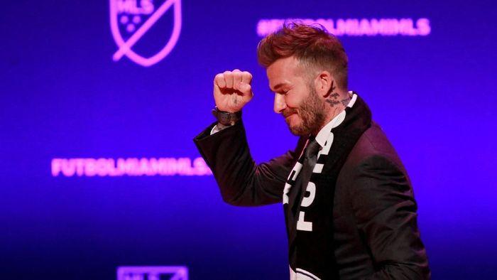 David Beckham bicara soal kans mendatangkan Lionel Messi dan Cristiano Ronaldo ke klubnya, Inter Miami CF. (Foto: REUTERS/Andrew Innerarity/File Photo)