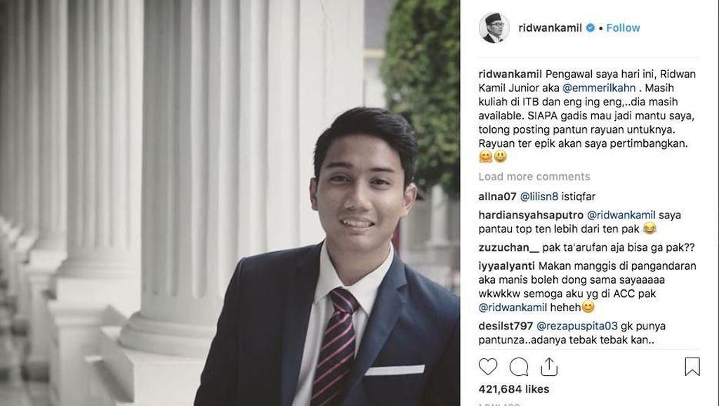 Komentar Kocak Netizen Tanggapi Ridwan Kamil Cari Mantu