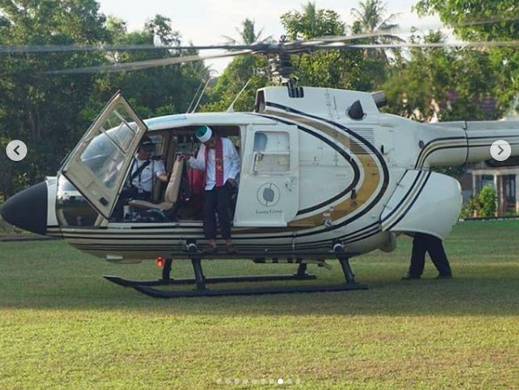 Ustaz Somad Naik Helikopter Saat Isi Ceramah di Sulawesi