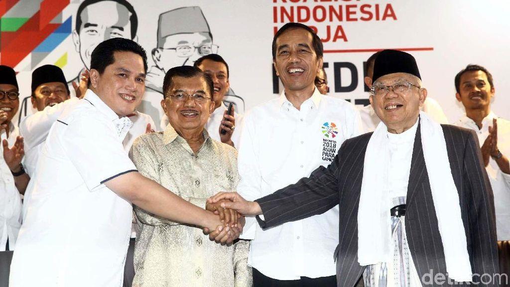 Momen Kedekatan Jokowi-Erick Thohir
