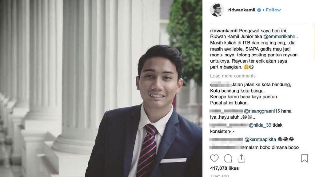 Ridwan Kamil Cari Mantu Buat Emmeril yang Olahraganya Kekinian Banget!