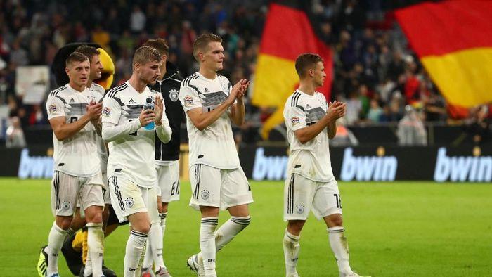 Toni Kroos dan Timo Werner masih jadi bagian dari skuat baru Jerman saat ini (Michael Dalder/Reuters)