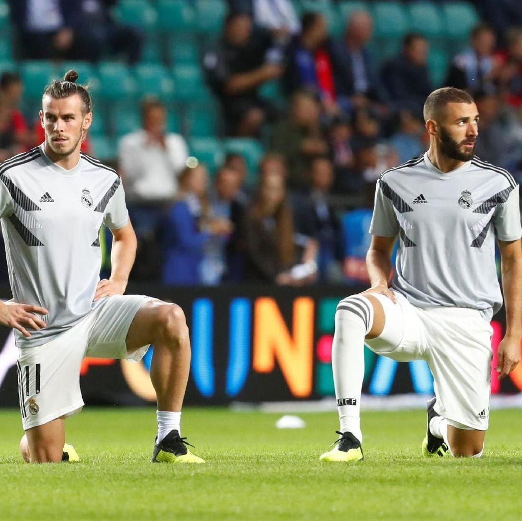 Benzema dan Bale Berlatih Seperti Bocah