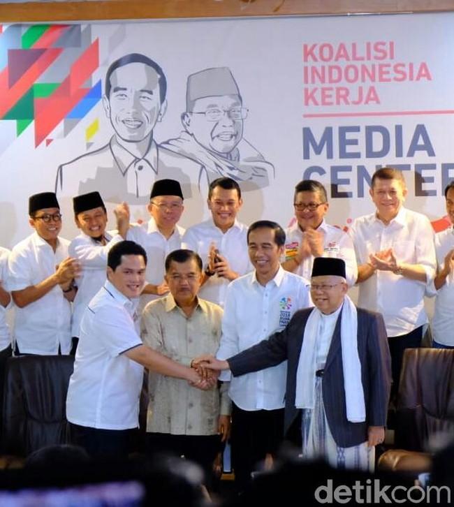 Dipimpin Erick Thohir, Ini Susunan Lengkap Timses Jokowi-Ma'ruf