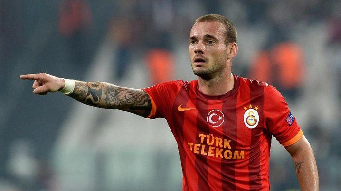 Wesley Sneijder berubah drastis dari atletis menjadi tambun usai pensiun sejak pekan lalu. (Foto: Claudio Villa/Getty Images)