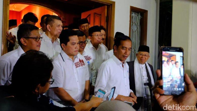 Timses Jokowi-Maruf Gelar Rapat Sebelum Pengambilan Nomor Urut