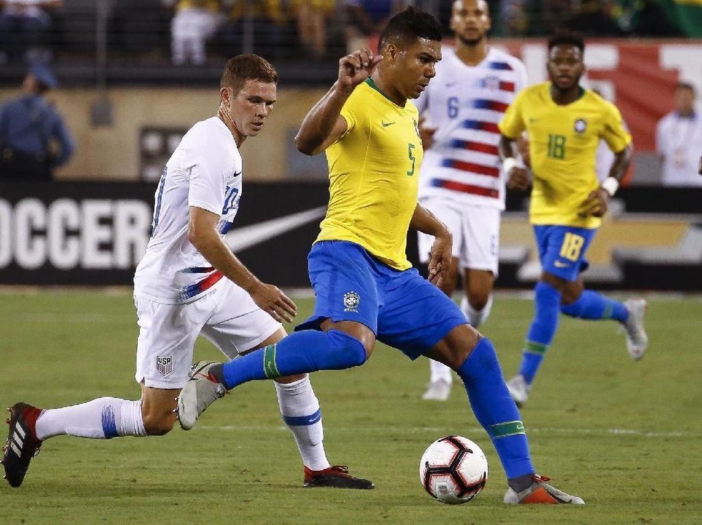 Hasil Uji Coba: Brasil Kalahkan Amerika Serikat 2-0