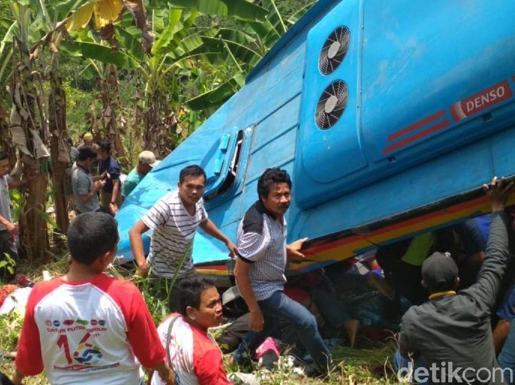 Begini Cerita Korban Selamat Kecelakaan Bus Maut di Sukabumi
