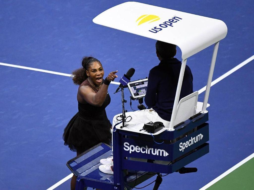 Protes dan Air Mata Serena Williams di Final AS Terbuka