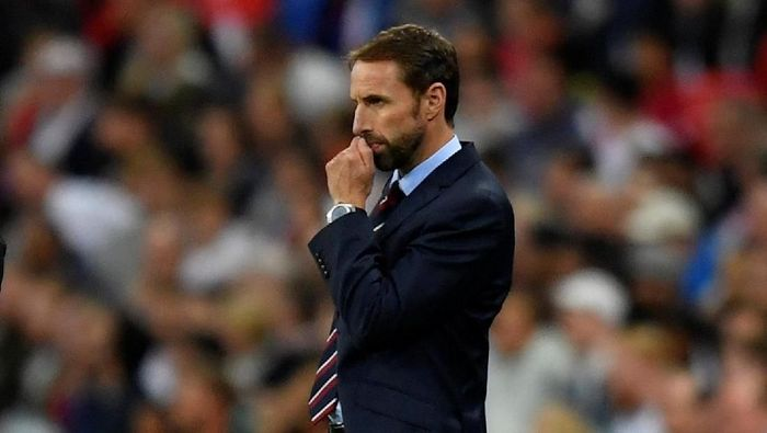 Soccer Football - UEFA Nations League - League A - Group 4 - England v Spain - Wembley Stadium, London, Britain - September 8, 2018  England manager Gareth Southgate looks on  REUTERS/Toby Melville
