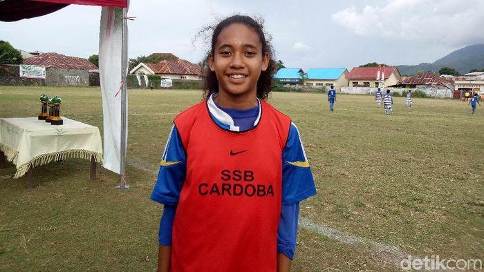 Natasya Suci Ramadan, pemain putri Ternate (Amalia Dwi Septi/detikSport)