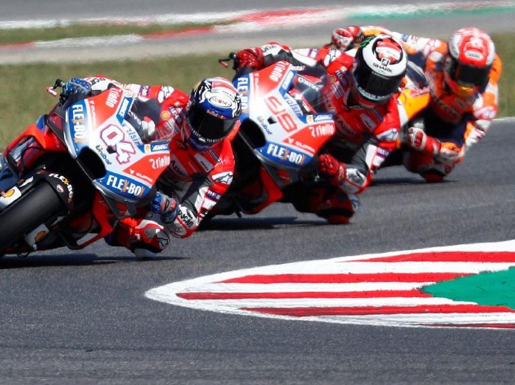 Senangnya Dovizioso Usai Kalahkan Marquez dan Menang Perdana di San Marino