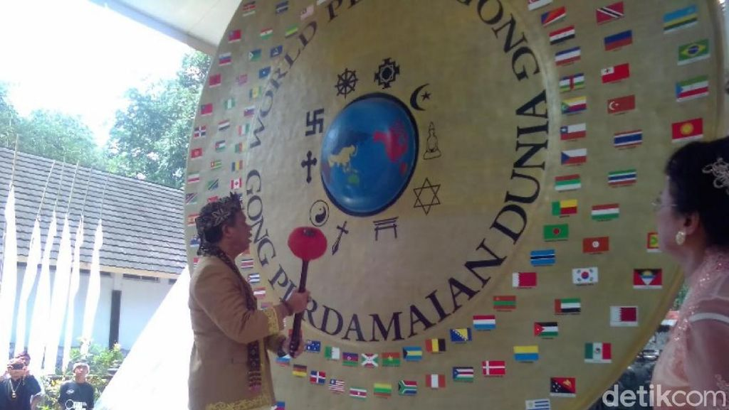 Potret Gong Perdamaian Dunia Ciamis yang Jadi Penarik Wisatawan