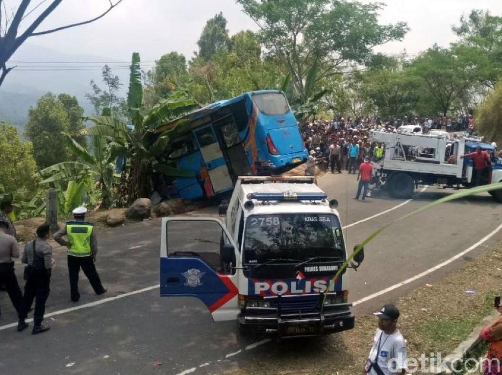 Lokasi Kecelakaan Bus Maut Sukabumi Minim Pembatas Jalan