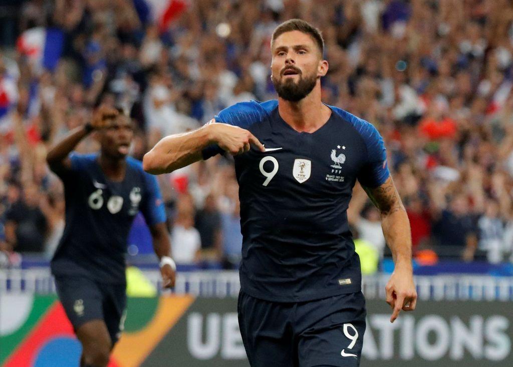 Olivier Giroud sudah mempersembahkan trofi Piala Dunia 2018 untuk timnas Prancis