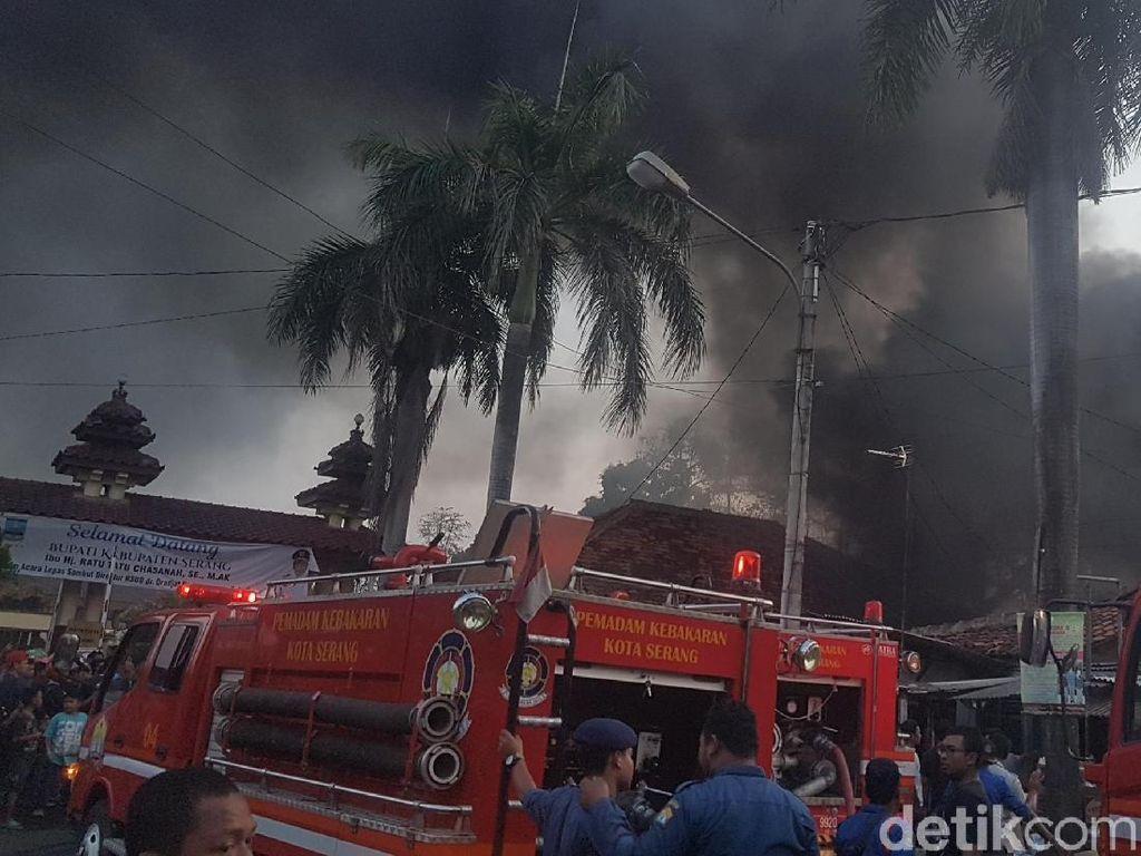 Gudang Depan RSUD Serang Terbakar, Pasien Panik