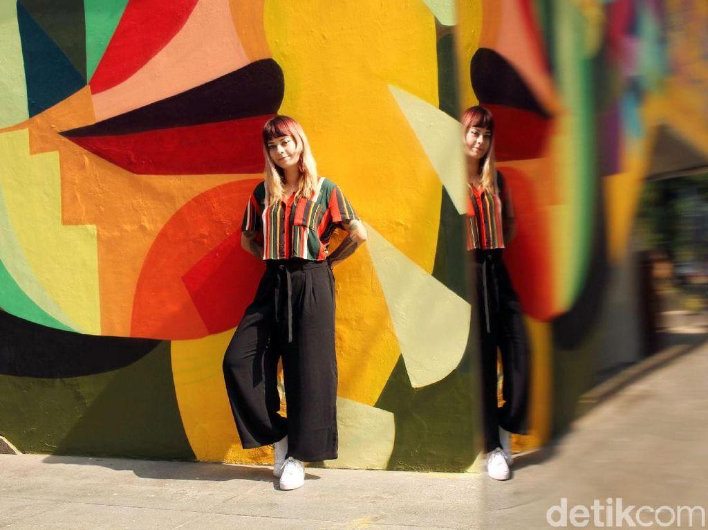 Ledania, Si Cantik Pelukis Mural di Taman Ismail Marzuki