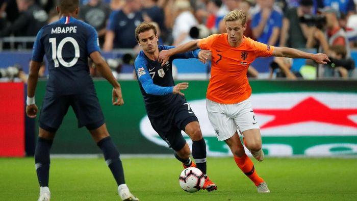 Prancis menjamu Belanda di Stade de France, Senin (10/9/2018) dinihari WIB di lanjutan League A Grup 1 UEFA Nations League. Ini jadi laga kandang pertama Prancis usai jadi juara Piala Dunia 2018. (Foto: Charles Platiau/REUTERS)