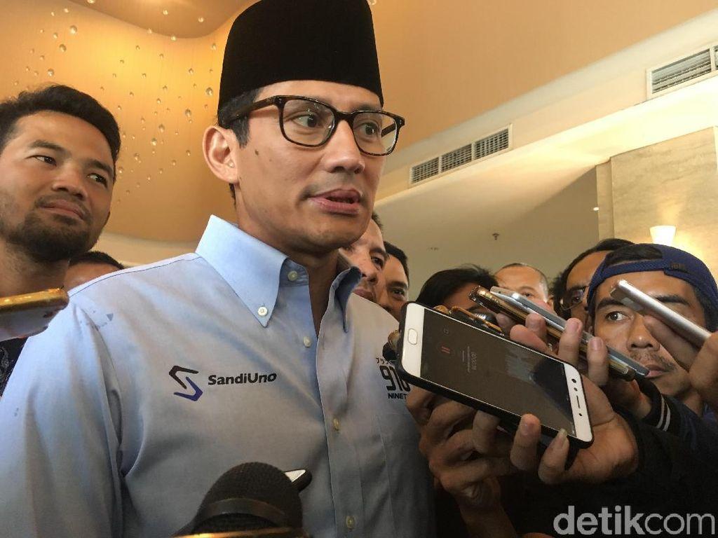 Sandiaga: Dua Kaki Demokrat di Prabowo-Sandi