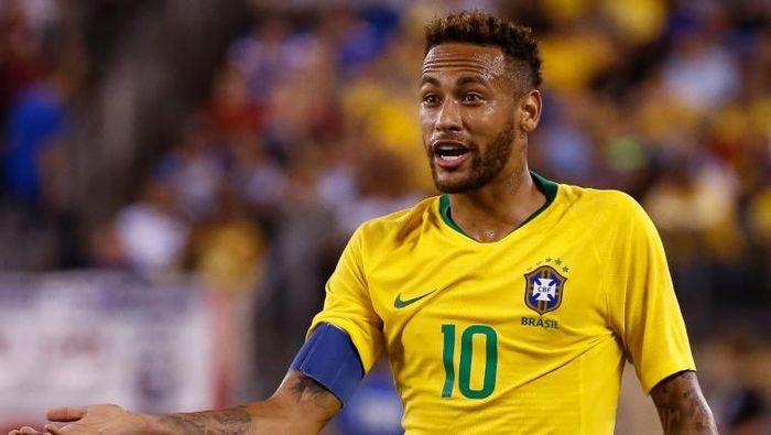 Neymar ditunjuk menjadi kapten timnas Brasil. (Foto: Jeff Zelevansky/Getty Images)