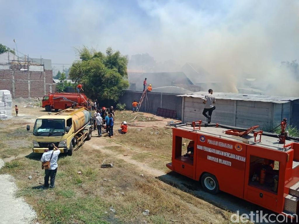 Kebakaran Lahan di Mojokerto Bikin Siswa SD Panik, 2 Anak Sesak Nafas