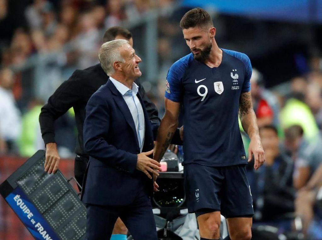 Deschamps: Kritik pada Giroud Tidak Adil