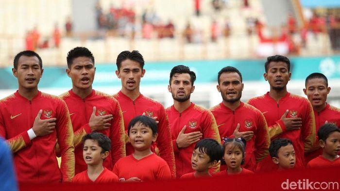Timnas Indonesia saat mengalahkan Mauritius. (Foto: Rifkianto Nugroho/detikcom)
