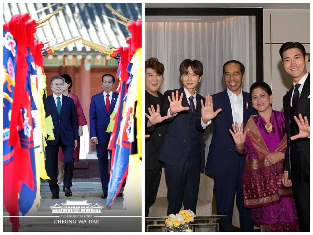 Jokowi yang Bikin Presiden Korsel dan Super Junior Terkesan