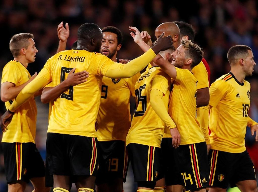 Hasil UEFA Nations League: Belgia Hantam Islandia 3-0